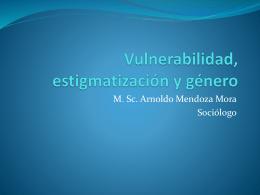 Vulnerabilidad, género y estigmas