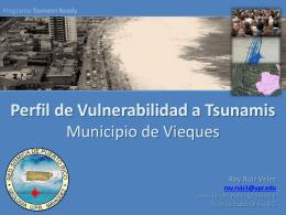 Vulnerabilidad a tsunamis en Vieques