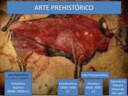 ARTE PREHISTÓRICO - Isidro Cruz Villegas