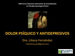 Dolor Psíquico y antidepresivos