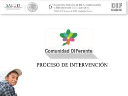 Procesos de intervención comunitaria