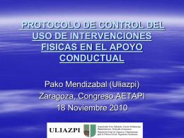 protocolo de control del uso de intervenciones fisicas en el