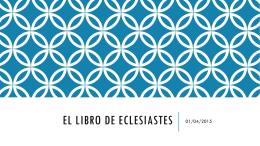 El libro de ECLESIASTES