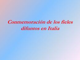 Conmemoración de los fieles difuntos en Italia