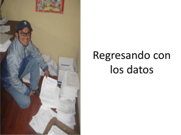 Regresando con los datos