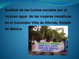 Análisis de las luchas sociales por el recurso agua de las mujeres