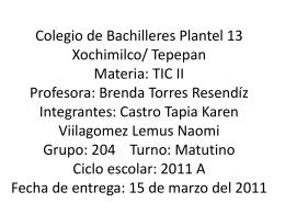Colegio de Bachilleres Plantel 13 Xochimilco/ Tepepan