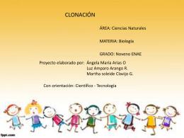 clonación1 - Ciencias Naturales ENAE