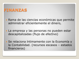CLASES DE FINANZAS