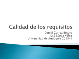 ¿Requisitos? - Daniel Gara