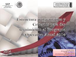 Estructura programática y Criterios para dar seguimiento al
