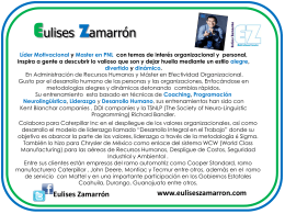 """""""Empleado a Emprendedor"""" Lic. Eulises Zamarrón"""