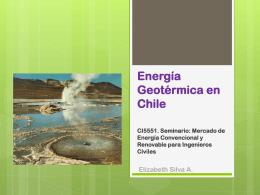 Energía Geotérmica en Chile - U