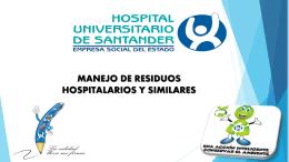 manejo de residuos hospitalarios y similares