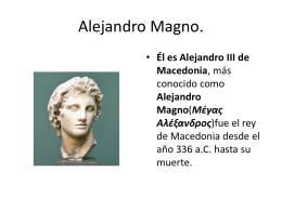 Alejandro Magno - LEMOS latín e grego