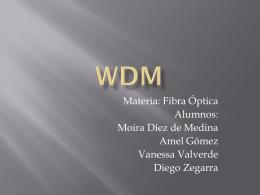 WDM - Comunicaciones Opticas