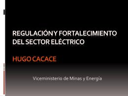 Principales Cuestiones en el Sector Eléctrico
