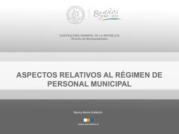 PRESENTACION CONTRALORIA N°2. Regimen Personal