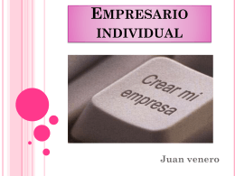 Empresario individual - Administración y F.OL.
