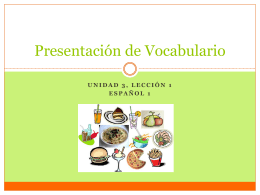 Vocabulario - Profe. Burke
