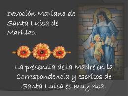 Devoción Mariana de Santa Luisa de Marillac. La presencia de la