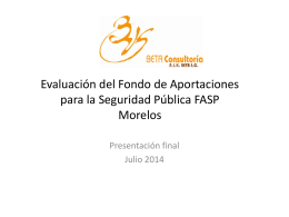Presentacion Evaluacion FASP Morelos