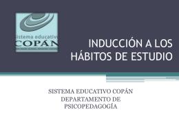 TALLER DE INDUCCIÓN HÁBITOS DE ESTUDIO