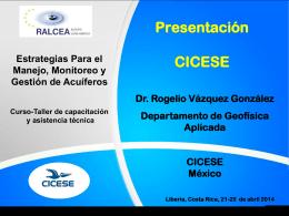 Presentación CICESE