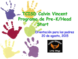 Head Start Bilingüe 4 años
