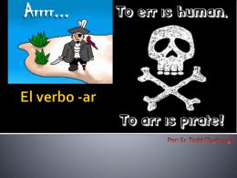 El verbo -ar - claybaughspanish