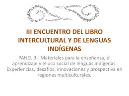 iii encuentro del libro intercultural y de lenguas indígenas