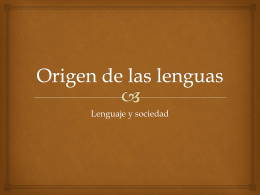Origen de las lenguas