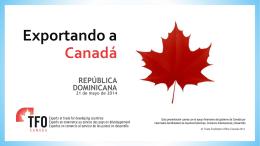 Exporting to Canada - Camara de Comercio Dominico