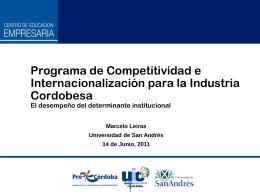 Competitividad de Firmas Regiones y Países