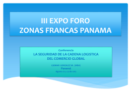 PRESENTACION FORO ZONAS FRANCAS