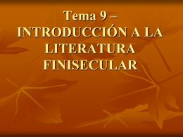 Presentación TEMA 9- Modernismo y
