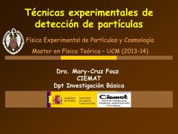 Técnicas experimentales de detección de partículas