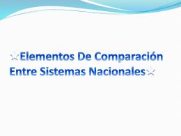 Elementos De Comparación Entre Sistemas Nacionales - Bio