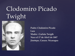 Clodomiro Picado Twight