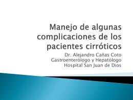 Complicaciones cirrosis