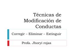 Técnicas de Modificación de Conductas - Docente