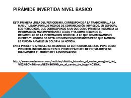 PIRÁMIDE INVERTIDA NIVEL BASICO