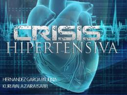 CRISIS HIPERTENSIVAS - Carpe Diem – Cogito ergo sum