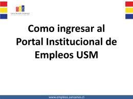 Como ingresar al portal de empleos USM