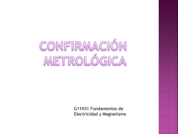 Confirmación metrológica