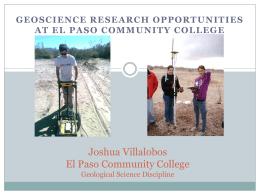 Joshua Villalobos El Paso Community College