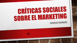 Críticas sociales sobre el marketing