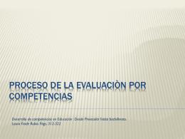 Tema 8 Proceso de la evaluacion por competencias