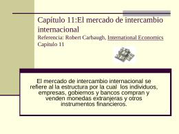 Capítulo 12:Intercambio internacional