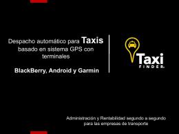 para las empresas de taxis